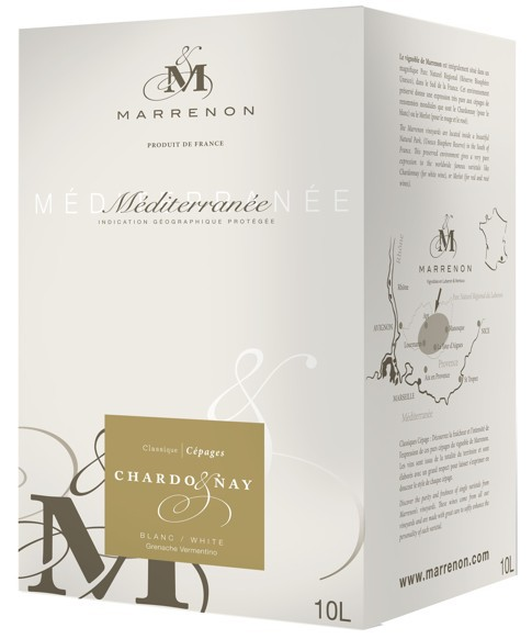 Bag-in-Box 10L Chardonnay VdP Marrenon