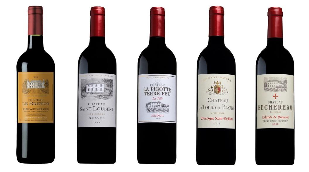 Sada 5 vín z Bordeaux