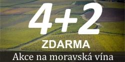 Moravská vína 4+2 zdarma
