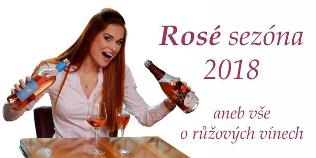 Růžová vína 2018