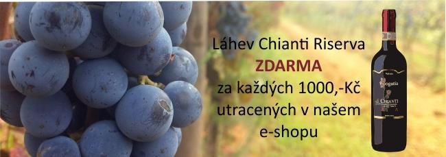 Chianti riserva za každou tisícovku utracenou za vína v našem e-shopu