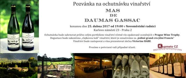 Ochutnávka Mas de Daumas Gassac