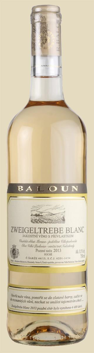 Baloun - Zweigeltrebe blanc pozdní sběr 2013