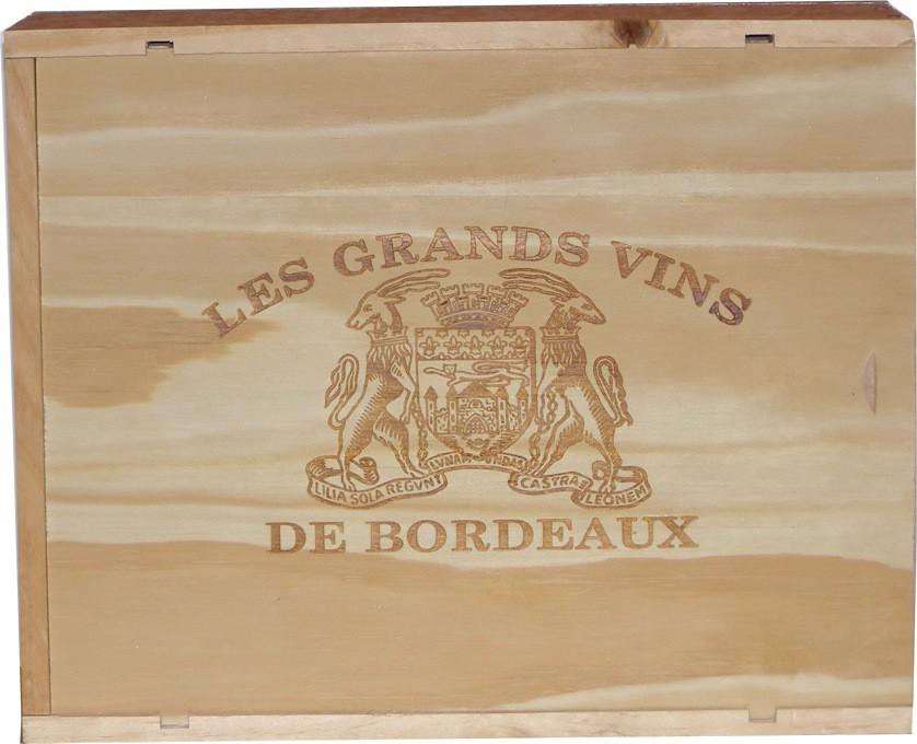 Dřevěná krabička Bordeaux na 3 láhve