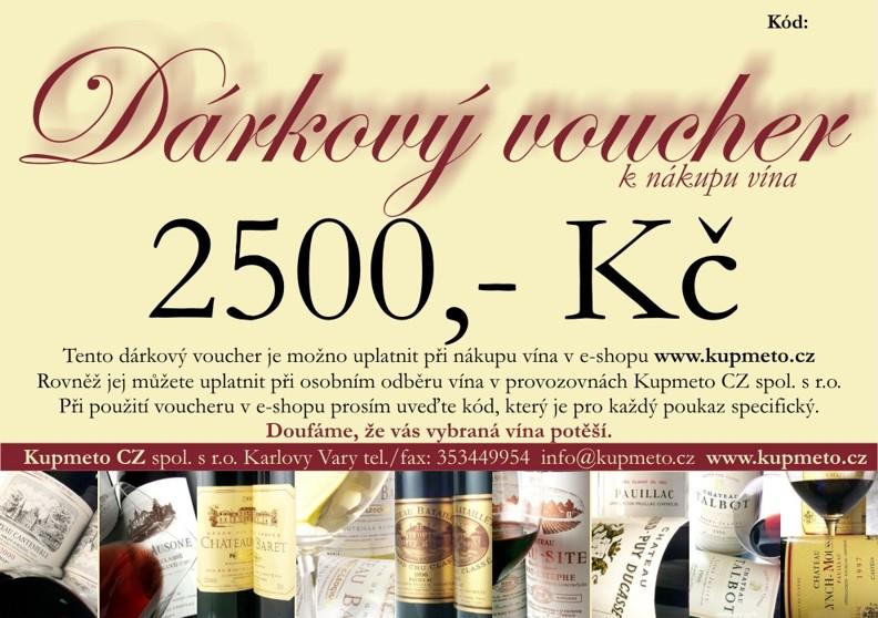 Dárkový voucher na 2500,-Kč
