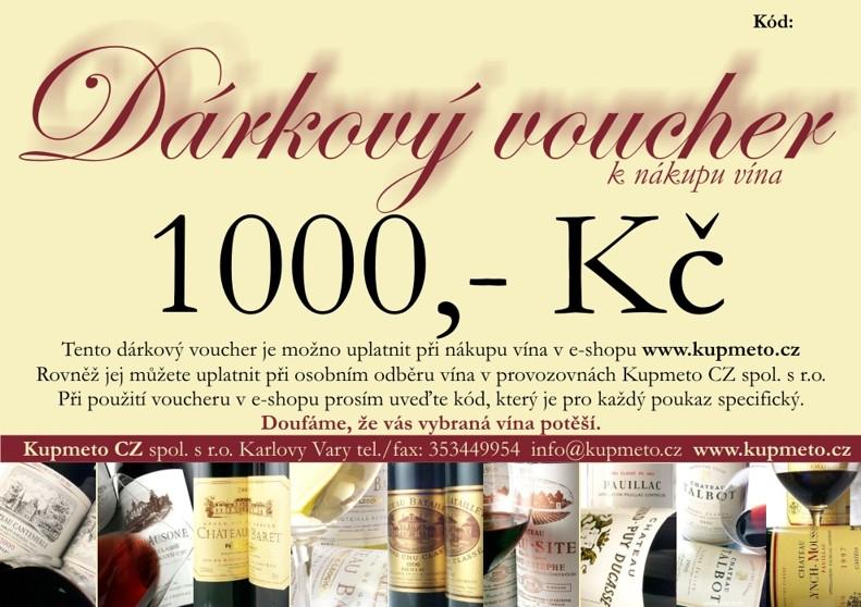 Dárkový voucher na 1000,-Kč