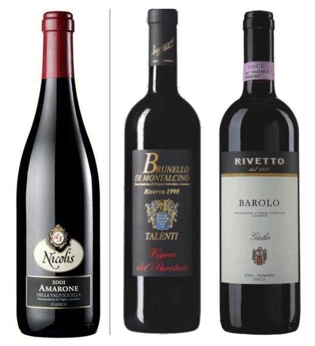 Sada 3 vín - Velká vína Itálie