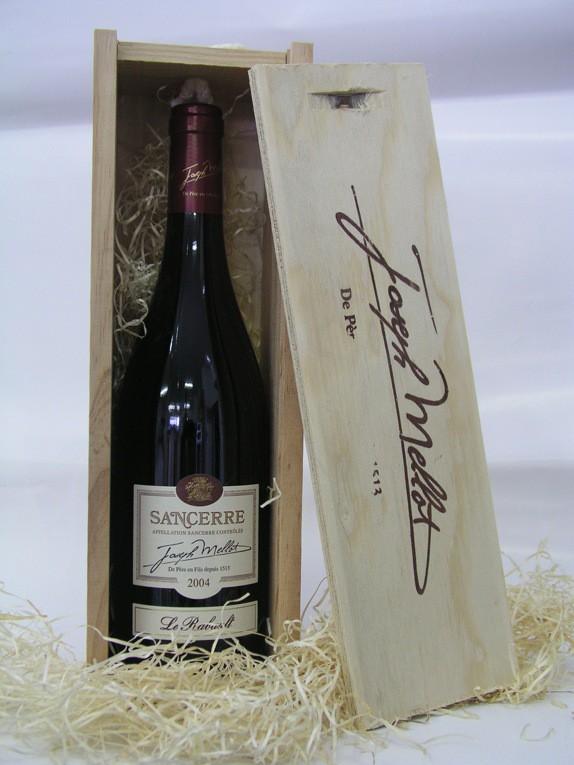 Dřevěná krabička Joseph Mellot na 1 láhev (bez vína)