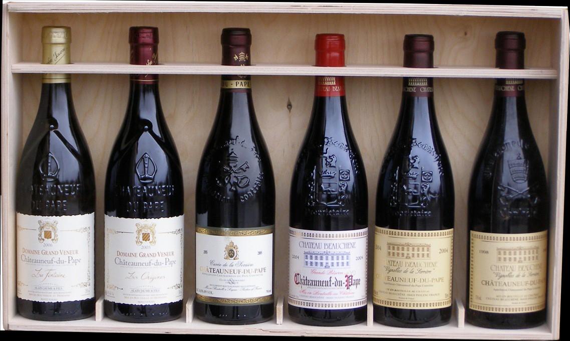 Sada 6 vín Chateauneuf-du-Pape