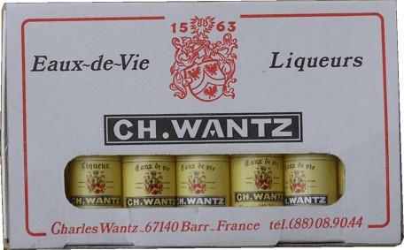 Charles Wantz - miniatury ovocných destilátů