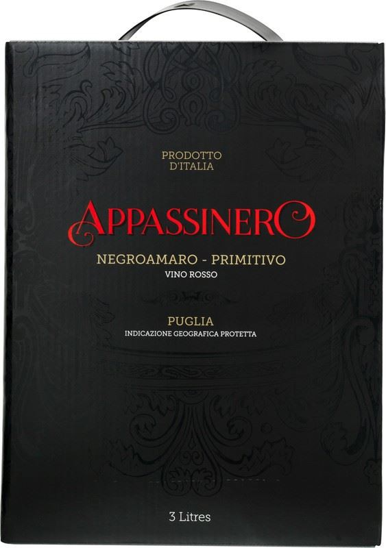 Primitivo / Negroamaro Appassinero bag in box