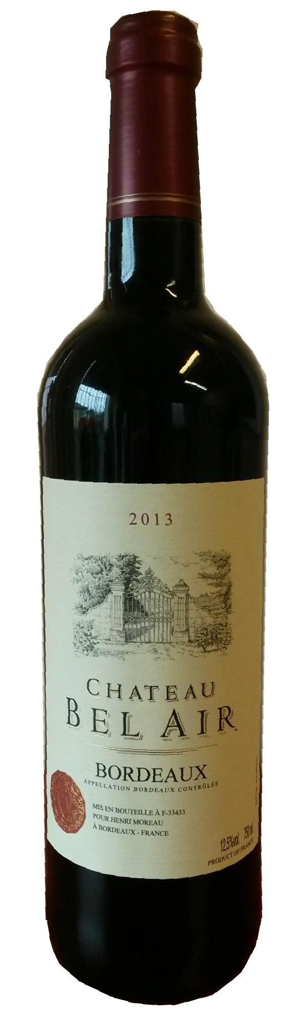 Château Bel Air 2013  - Bordeaux rouge