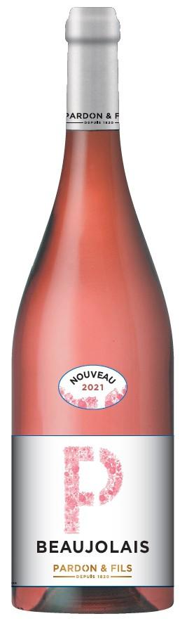 Beaujolais Nouveau rosé Pardon et Fils mladé francouzské víno