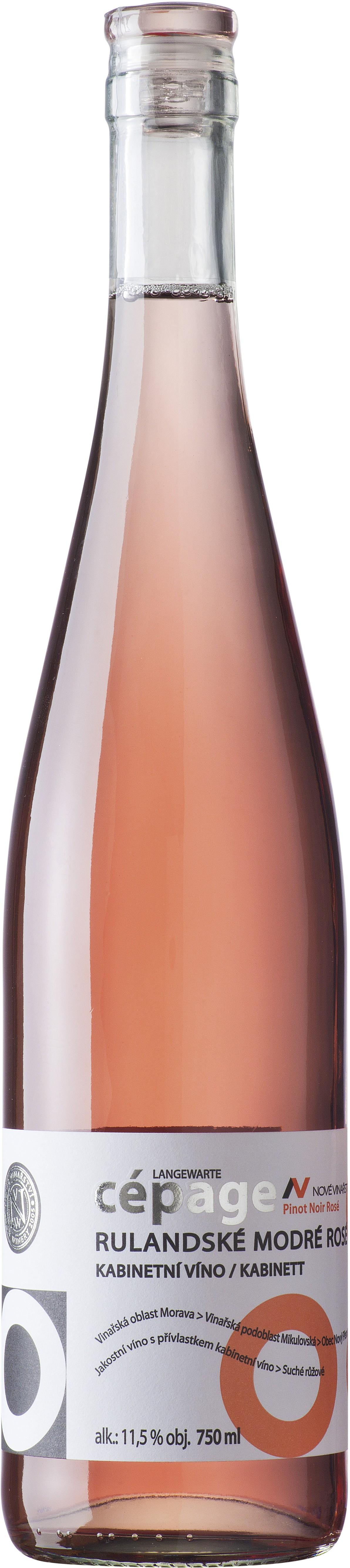 Nové Vinařství - cepage Rulandské modré rosé 2014