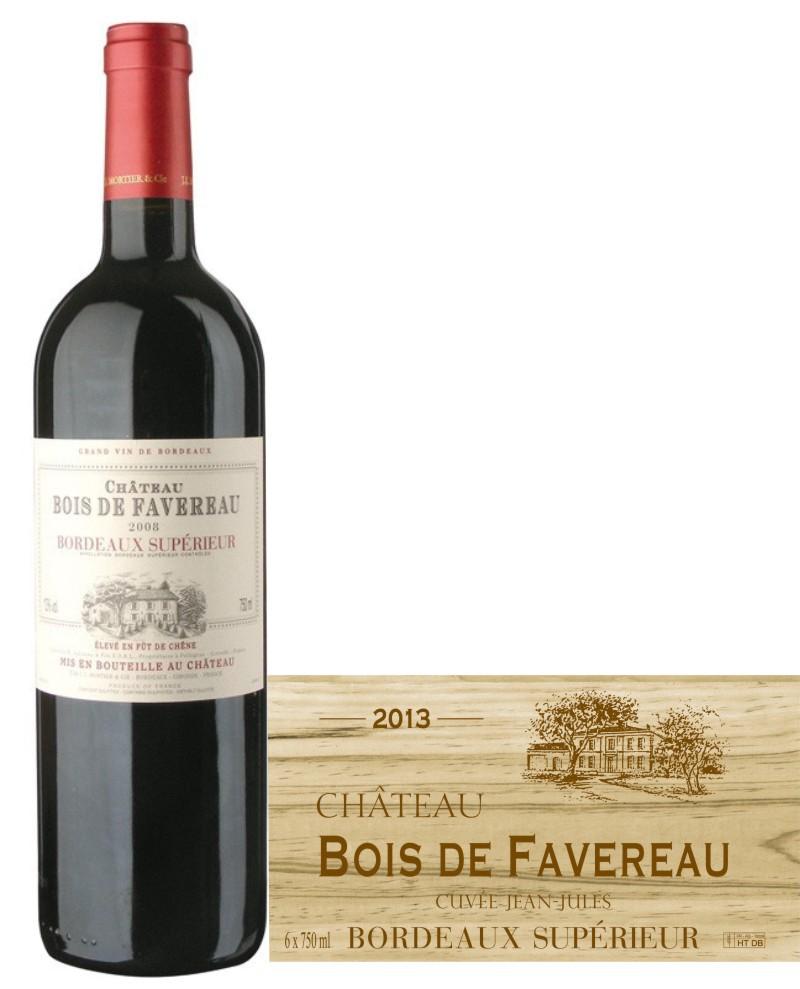 Bordeaux superieur - Château Bois de Favereau 2015 ve dřevě