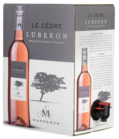 Bag-in-box 5L rosé Luberon Le Cedre