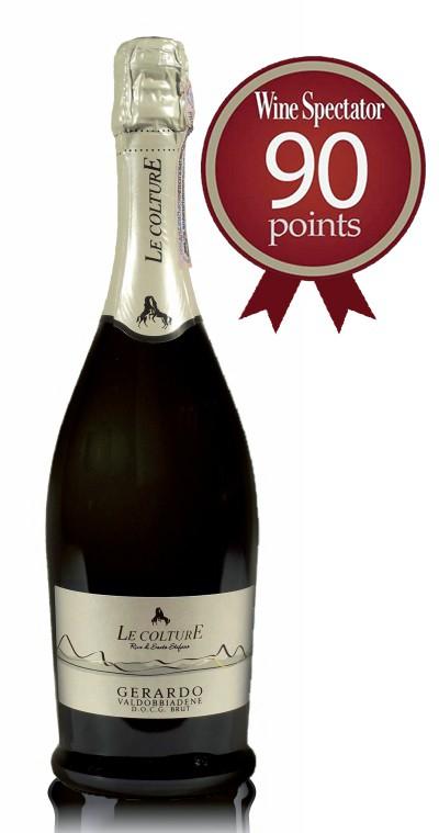 Prosecco Gerardo ocenění 90 bodů Wine Spectator