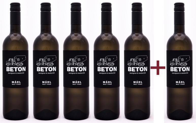 Sada 5+1 Mádl - cuvée Beton (Sauvignon + Neuburk)