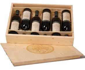 Mikros - dřevěná kazeta na 6 lahví