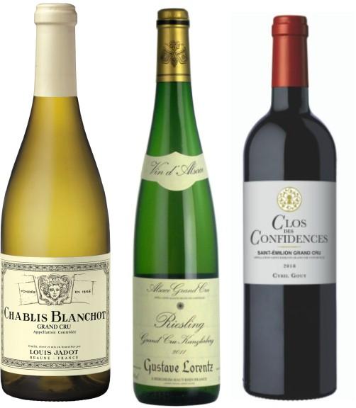 Sada 3 vín - francouzská Grand cru