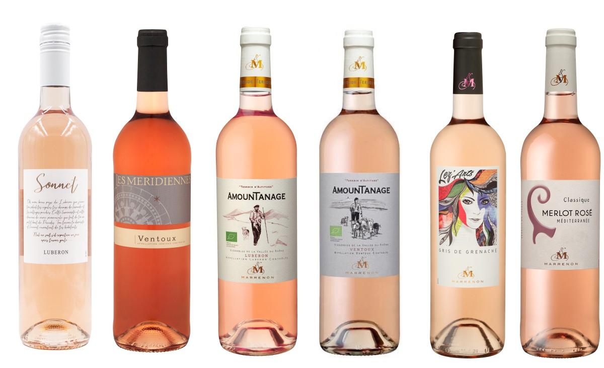 Sada francouzských růžových vín z Marrenon