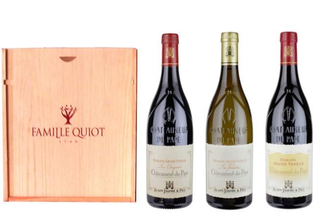 Sada 3 vín - Chateauneuf-du-Pape region