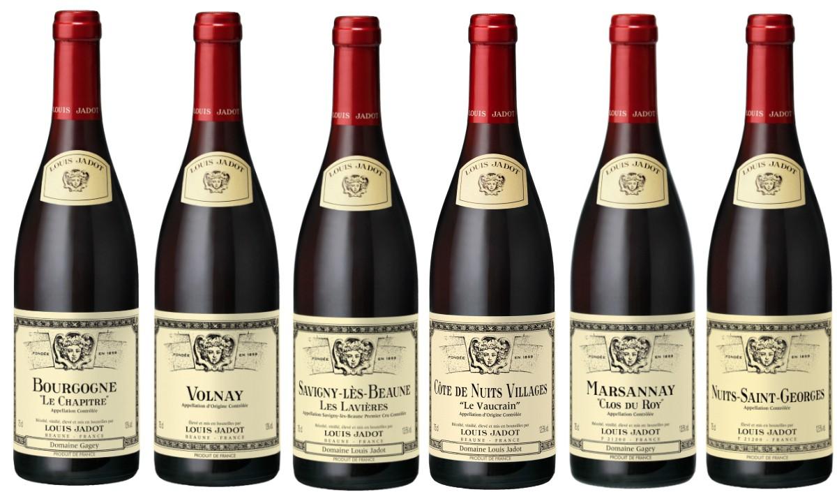 Sada 6 vín - Burgundsko