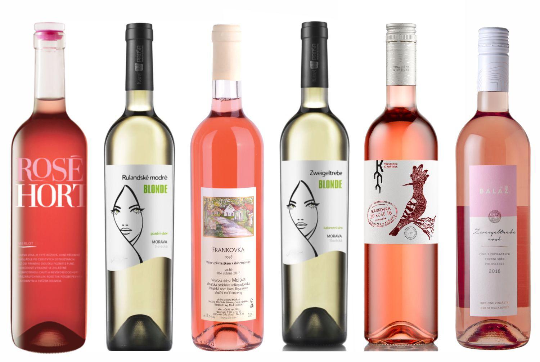 Sada nejlepších moravských rosé - růžových vín