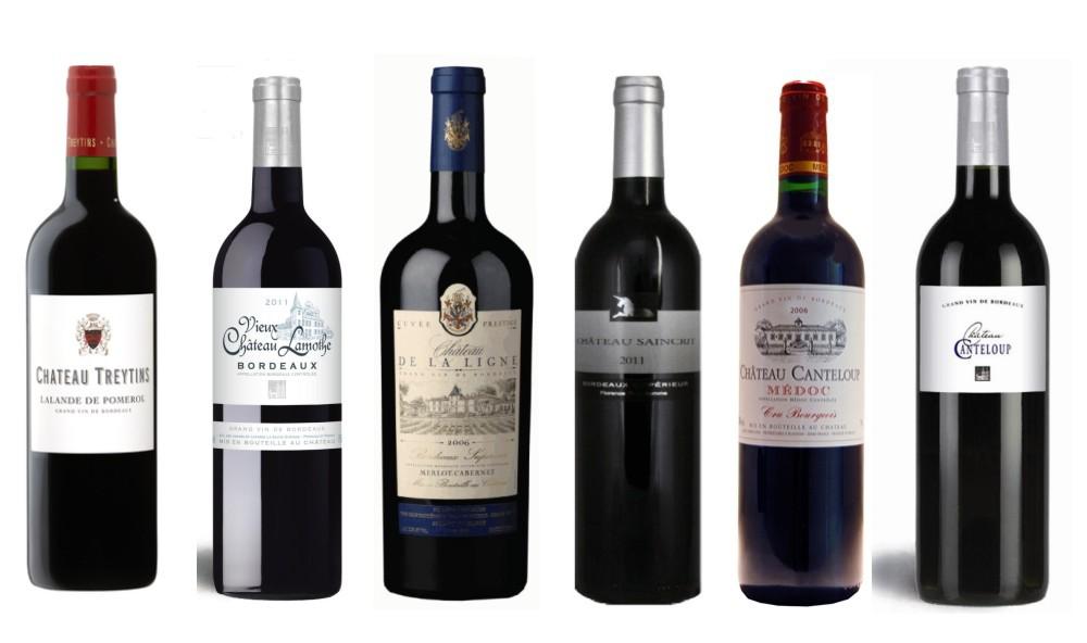 Sada 6 vín - Bordeaux v dárkové kazetě