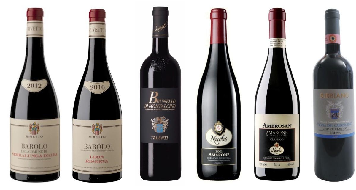 Velká vína Itálie - Barolo, Brunello, Amarone, Chianti Classico