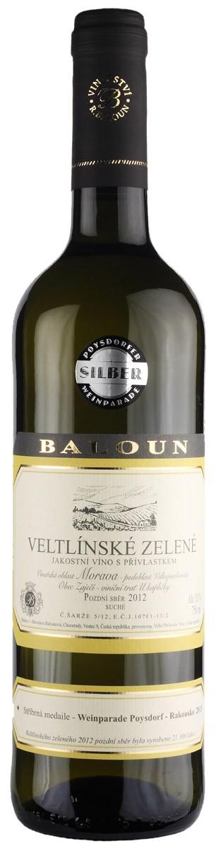 Baloun - Veltlínské zelené pozdní sběr