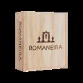 Dřevěná krabička na 3 vína Romaneira