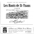 Médoc -Les Hauts de Saint Yzans 2001