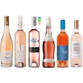 Sada 6 vín - Top rosé z Francie