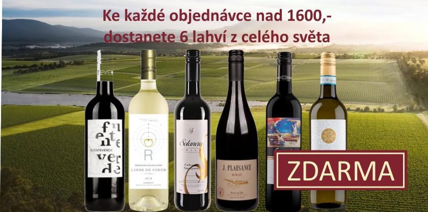 Karton světových vín ke každé objednávce nad 1600,- Kč