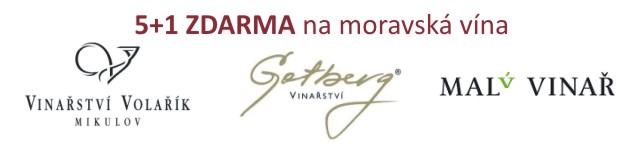 5+1 láhev ZDARMA k vybraným moravským vínům