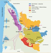 Bordeaux Mapa