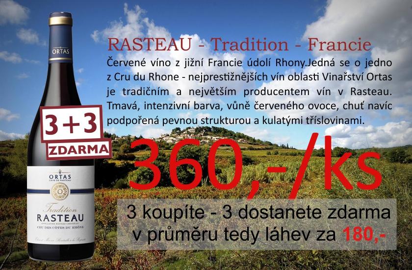 Rasteau 3+3 zdarma
