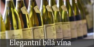 Elegantní bílá vína