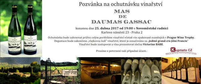 Degustace 25. dubna Mas de Daumas Gassac