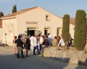 Chateau Hospitalet - Festival de Jazz - příchod na večerní degustaci