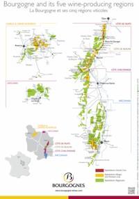 Mapa Burgundska