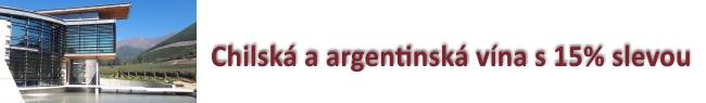 Oceněná Chilská a Argentinská vína