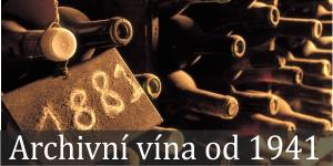 Archivní vína od roku 1941