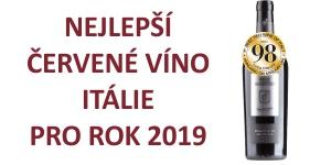 Nejlepší červené víno Itálie pro rok 2019