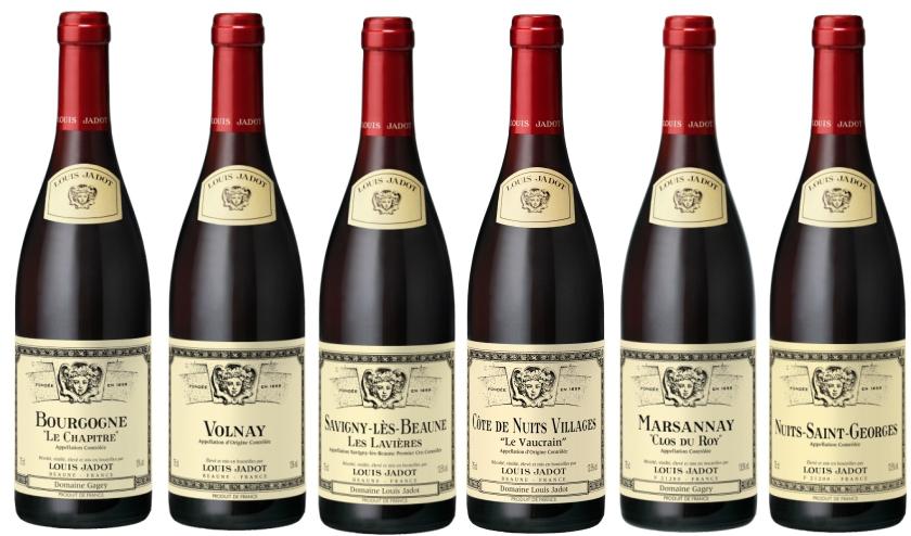 Sada 6 burgundských vín